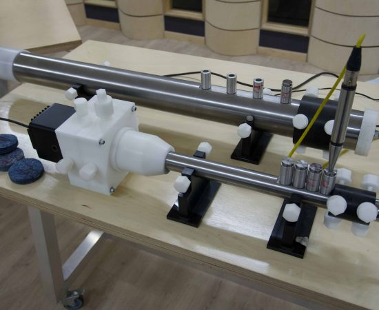 Impedance tube testing in accordance with 1053-2 to determine absorption of materials