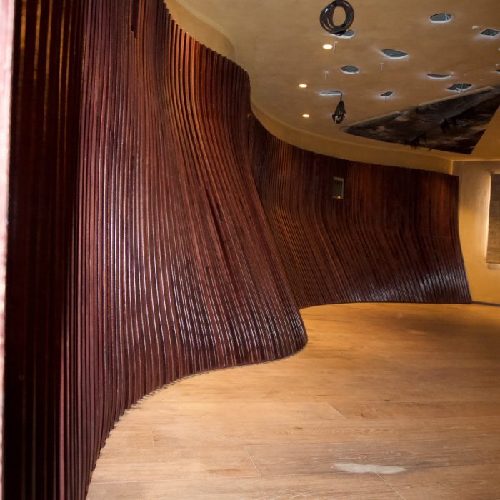 Acoustic slatted wall